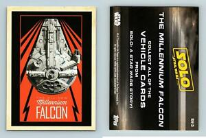 Millennium Falcon #SV-3 Solo : A Star Wars Story Topps Ships & Vehicles Card