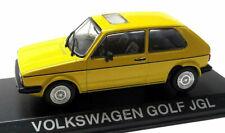 VW VOLKSWAGEN GOLF JGL 1:43 Toy Car Model Die Cast Metal Miniature Yellow