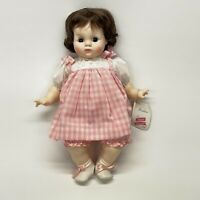 "Madame Alexander 1965 Puddin Doll 20"" Pink Dress Brown Hair 6930 With Box & Tag"