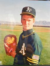 Todd Van Popple  OAKLAND A'S  8x10 Color Photo Posed GREEN Jersey