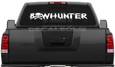 Bowhunter Skull Decal Sticker Hunt Diesel Turbo UTV ATV Cross Bow Bones Stand