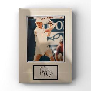 Boris Becker - Former World Number 1 Tennis Player Signed Display