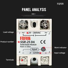 SSR-25DA Solid State Relay Module 25A 250V 3-32V DC Input AC 24V-380V Output
