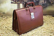 SCHLESINGER Vintage Leather Doctor Attorney Briefcase Bag Mens MSRP$574.00