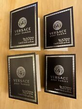 Versace Pour Homme Eau De Toilette EDT SAMPLE SPRAY .03 oz 1 ml set lot x 4