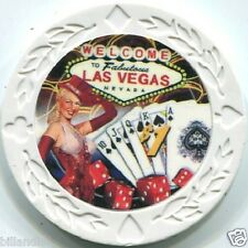 7 pc 7 colors 7.5 gram CHORUS SHOW GIRL poker chip samples set #248