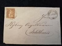 Schweiz - Brief Stück Stempel 1867 Solothurn Sitzende Helvetia 5 C   Nr.21
