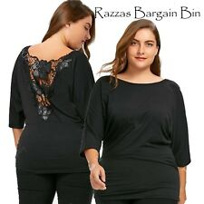 New Ladies Gorgeous Batwing Top With Lace Back Plus Size 18/3XL (1313)QG