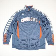 Charlotte Bobcats Adidas Snap NBA Basketball Warm Up Top Jacket Mens 2XL