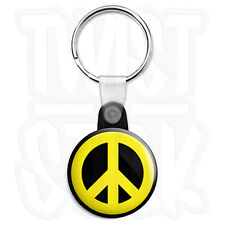Key Ring Chain Metal Weed POT Leaf Marijuana Peace Hand Sign Pewter Emblem Logo Symbols