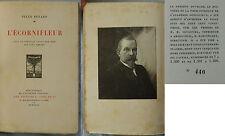 C/ L'ÉCORNIFLEUR Jules Renard (Grès et Cie 1923) 1 portrait gravé (numéroté)