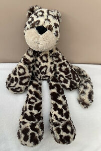Jellycat Merryday Leopard Comforter Baby Soft Toy Soother Brown Beige Plush