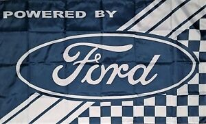 FORD POWERED FLAG. HUGE Classic car show, Man Cave, Garage, Shed