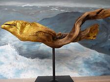 "GEFÄHRLICHE Treibholz Skulptur ""See Muräne"" v. Neptun Arts SKUL 100 Muray Danger"