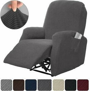 Recliner Stretch Sofa Slipcover Cover Furniture Protector Couch Spandex Pique