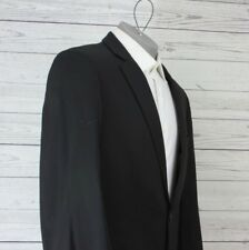 ce7071216 Hugo Boss Red Label Black 2 Button Blazer Sport Coat Wool Blend 40L