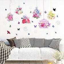 Reino Unido _ am _ BH _ 2Pcs naturaleza Mariposa Patrón Pared Adhesivo Mural Calcomanías Casa Habitación De