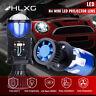 2X H4 9003 Mini Bi-LED Projector Lens LED Headlight Hi-Lo Beam 90W LHD Retrofit