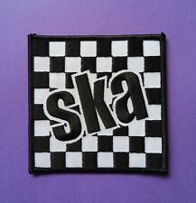 Ska Check iron on Patch mod punk reggae 2 tone music chequered flag word scooter