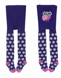 Organic Cotton Baby Purple Spotty Tights. Perfect winter accessory!
