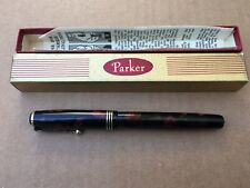 Parker Deluxe Challenger Red Pearl Marble Fountain Pen W/ Original Box No NIB