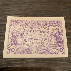 AUSTRIA BANKNOTE - 10 HELLER - 1920 - FREE SHIPPING