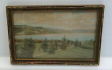 Sawyer Pictures Crystal Lake VT Hand Colored Photograph Signed Original Frame