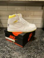 Nike Air Jordan 1 Retro High OG First Class Flight White Yellow 555088-170 Sz 8