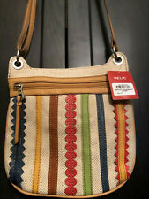 Relic Marley Crossbody Canvas Stripes Multi Red Blue Green Purse Bag Adjustable