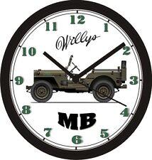 WILLYS MB WORLD WAR II JEEP WALL CLOCK-CHOOSE 1 OF 2