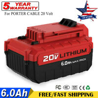 6.0Ah Lithium-Ion 20V MAX Battery For PORTER CABLE PCC685L PCC682L PCC680L Tools