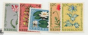 Sc# B343-47 - Netherlands - 1960 Flowers -  MNH - VF -  superfleas  cv$8.75
