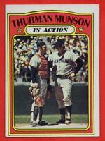 1972 Topps #442 Thurman Munson VG-VGEX+ WRINKLE New York Yankees FREE SHIPPING