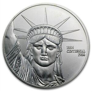 1 troy ounce .999 SILVER BULLION : ENGELHARD Statue of Liberty (MTB)