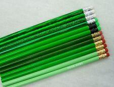 "12 ""Shades of Green"" Personalized Pencils w/Glitzy"