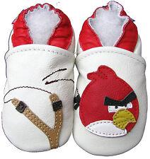 carozoo bird slingshot white 5-6y soft sole leather kids shoes