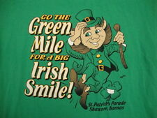 Go The Green Mile For A Big Irish Smile St Patrick's Day Parade Kansas T Shirt M