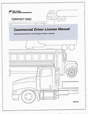 COMMERCIAL DRIVER'S MANUAL FOR CDL TRAINING (NEW JERSEY) ON CD IN PDF PROGRAM.