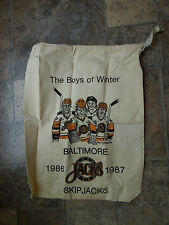 Vintage Baltimore skipjacks hockey souvenir drawstring bag