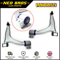 Pair Control Arms Inc Ball Joints With Powerflex Poly Bushes for Saab 9-3 03-12