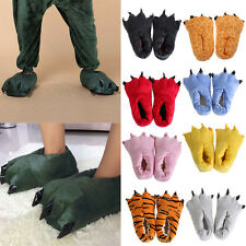 Adult Cartoon Animal Cosplay Costume Slippers Dinosaur Claw Paw Shoes Indoor HO