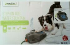ZOOFARI STEP-ON DOG WATER FOUNTAIN DRINK PLAY REFRESH AUTOMATIC PAW CONTROL