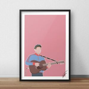 Gerry Cinnamon INSPIRED WALL ART Print / Poster Minimal A4 A3 belter sometimes