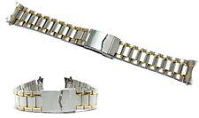 Cinturino per olorogio acciaio inox bicolor curva 22mm deployante 644 watch stra