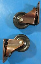 "1-5/8"" Plate Rubber Wheel Caster #044-2160 Pack Contains (2) Wheels"