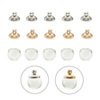 20 Sets Empty Glass Ball Charms Bubble Globe Blown Beads Semi-Finished Pendants