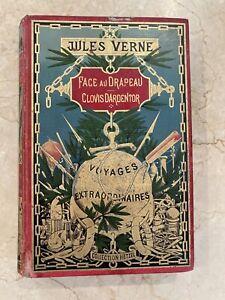 Jules Verne Hetzel Face au drapeau - au Globe doré -Edition Originale