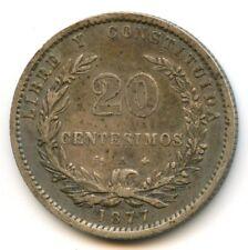 Uruguay République 20 Centesimos 1877 A Paris KM 15