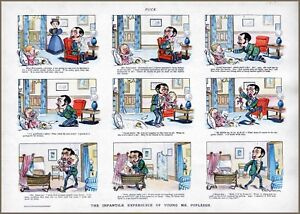 Frustrated Father Crying Baby Parenting Comic Strip 1897 Paragoric Jumping Jack