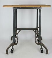 Antique/Vintage Toledo Metal Furniture UHL Rolling Convertible Typewriter Table